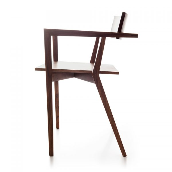 Wood Pattern Corsia Chair with Armrest