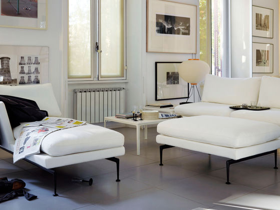 White Suita Club Sofa featured in a living room setting with other furniture
