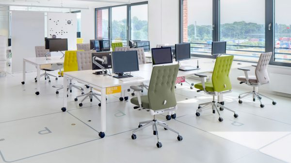 ID Trim Office Chairs featured in Office Setting with other set furniture