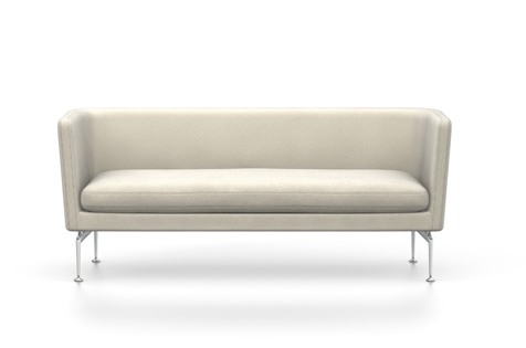 White Suita Club Sofa with metal legs