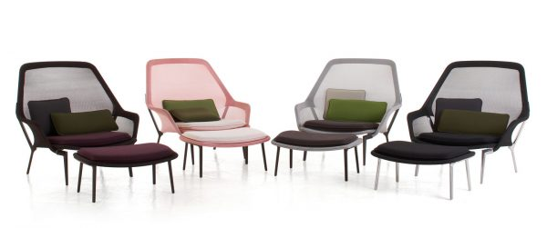 Slow Lounge Chair with Ottoman featured in Multicolours