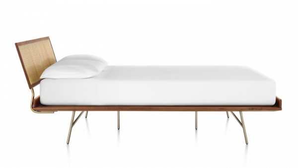 Nelson Thin Edge Bed with headboard and metal backframe