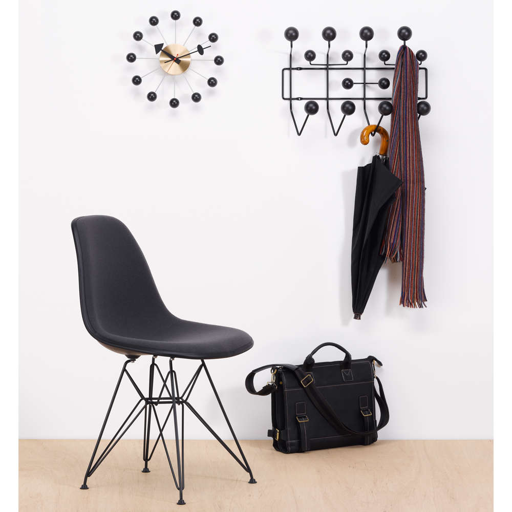 Eames Hang It All with black spheres featured with other furniture
