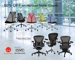 BDO PROMO CHAIRS featuring Aeron Chairs in Black, Brown, Grey, Red, Blue, and Green