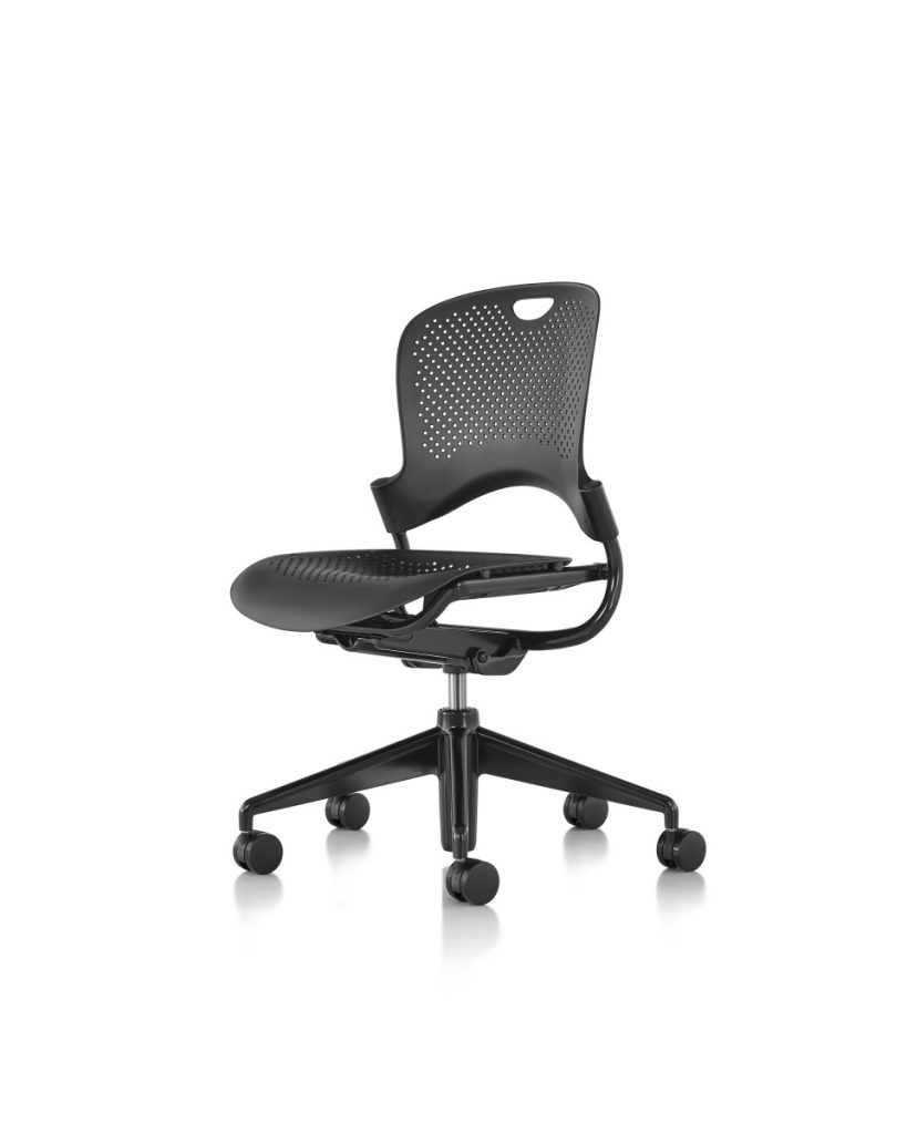 Black Caper Multipurpose Chair with Five Wheeled Legs