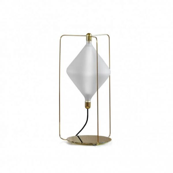 Clover Table Lamp with wire frame