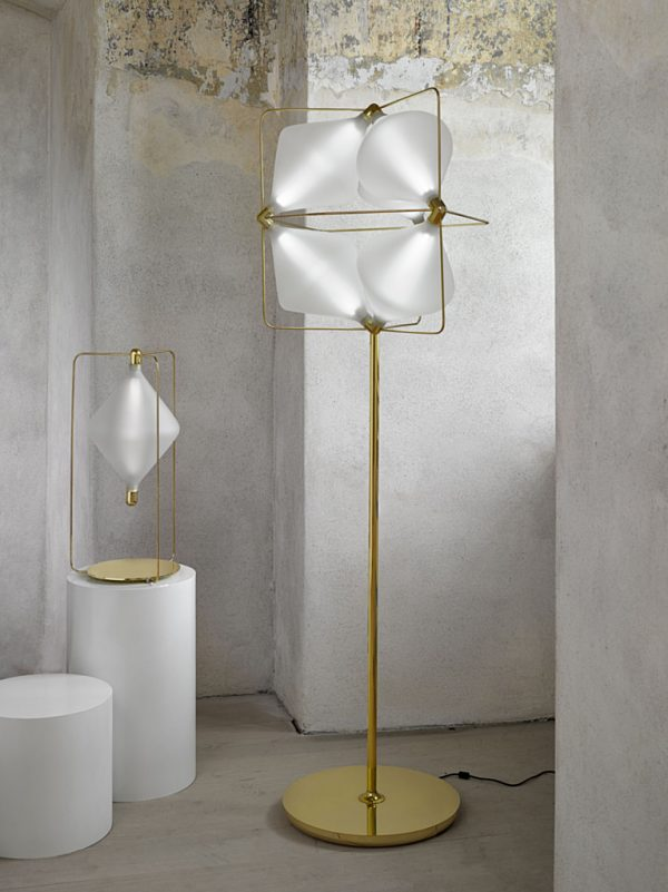 Clover Table and Floor Lamps