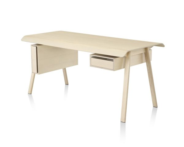 Light Beige Distil Desk With Drawers