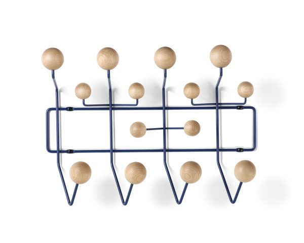 Eames Hang-It-All with eggshell-coloured decorative spheres