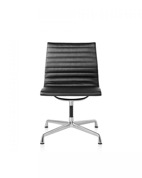 Eames Aluminum Office Chair with Light Metal Legs, Backrest and no Armrest