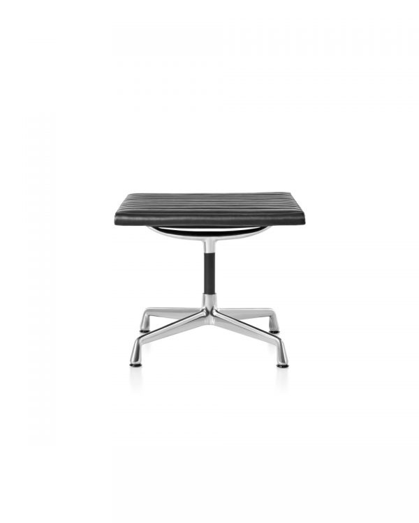 Eames Aluminum Office Chair with Light Metal Legs and no Backrest or Armrest