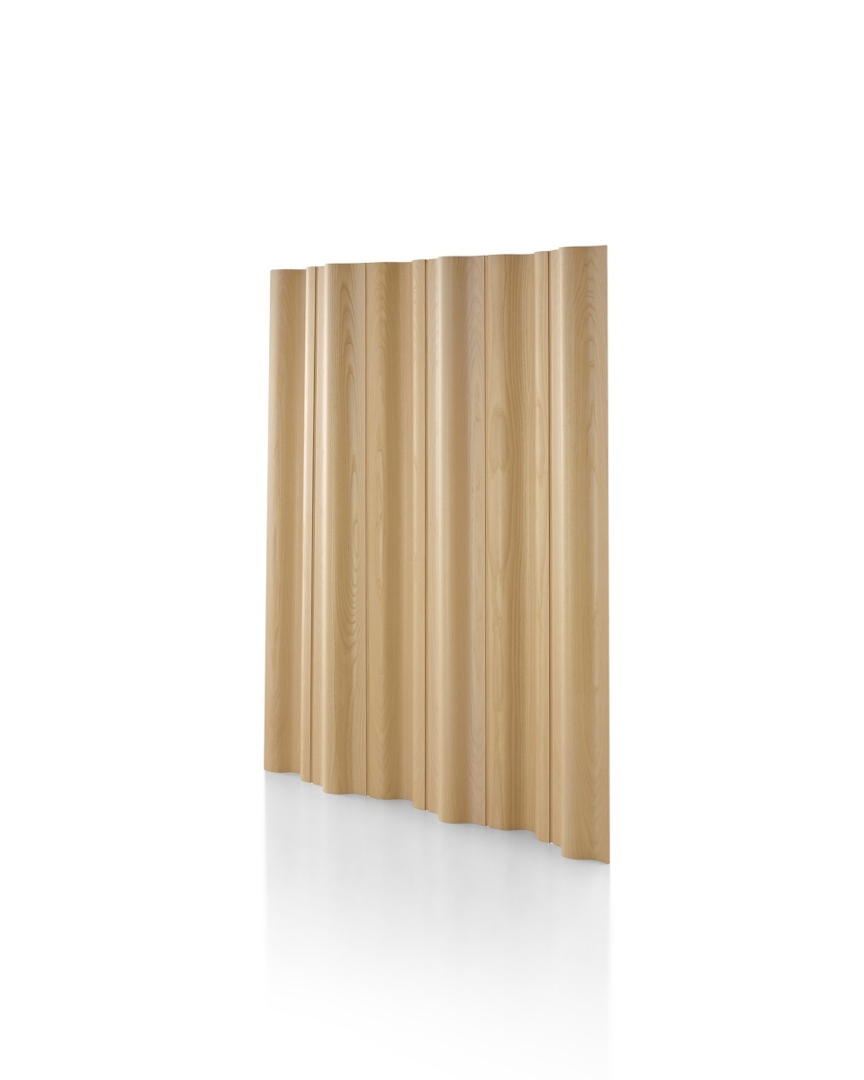 Brown Wood Pattern Eames Moulded Plywood Folding Screen