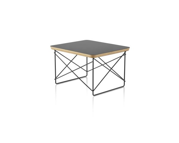 Eames Wire Base Low Table with Dark Colour Tabletop