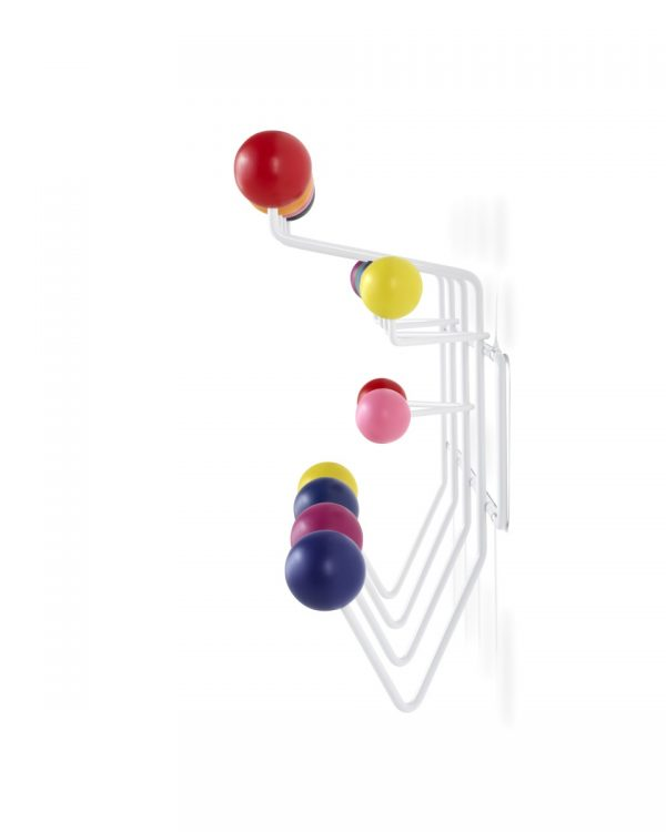 Eames Hang-It-All with multicoloured decorative spheres