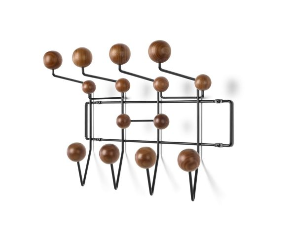 Eames Hang-It-All with wood-patterned decorative spheres