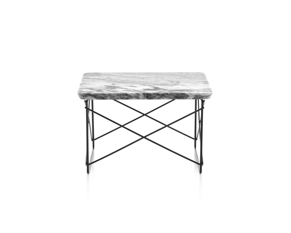 Eames Wire Base Low Table with Marble Pattern Tabletop