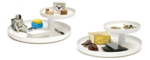 Rotary Tray with elevated dish featured with other accessories