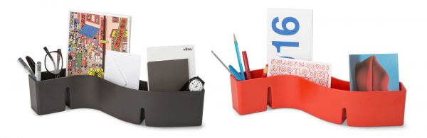 S-Tidy organiser in Black and Red, with three compartments each
