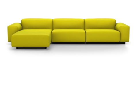 Barberry Yellow Soft Modular Sofa with Three Divisions
