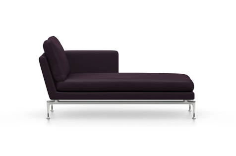 Voodoo Purple Suita Chaise Longue with Metal Legs