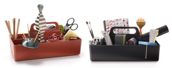 Toolbox utensil or object holder featured with other furniture