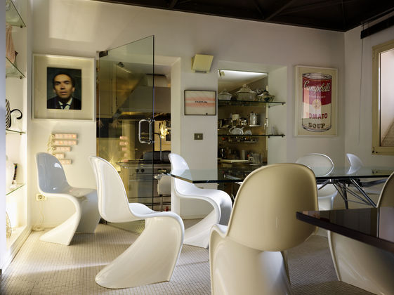 Panton Classic Chairs featured in living room setting with other furniture
