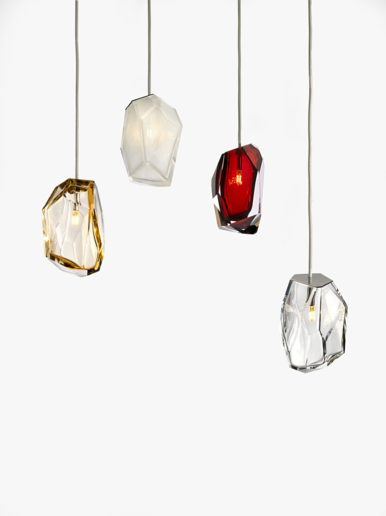Multicoloured Crystal Rock Lamps