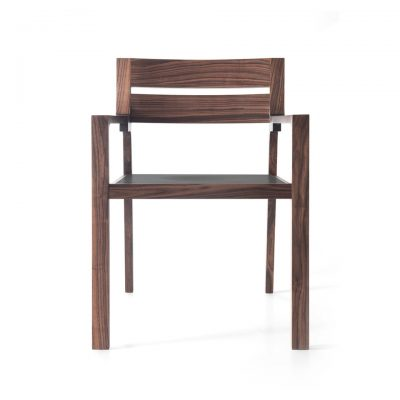 Wood Pattern Fabula Chair with armrest