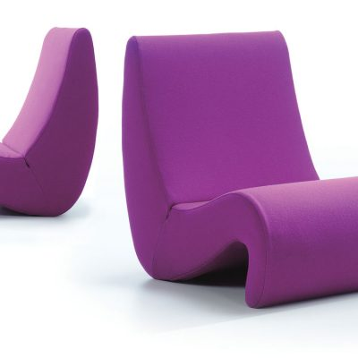 Purple Amoebe Lounge Chair
