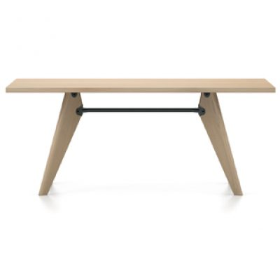 Table Solvay with metal support, featured in light brown