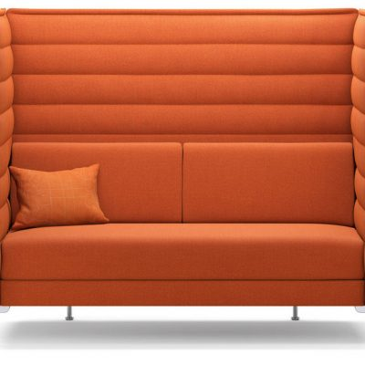 Orange Alcove Highback Sofa
