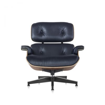 Eames Moulded Plywood Lounge Chair with wood pattern frame