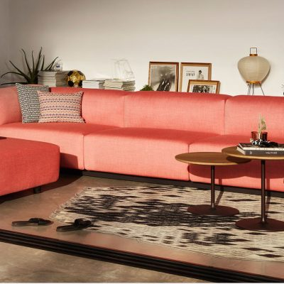 Classic Maharam Pillows featured in living room setting with other furniture
