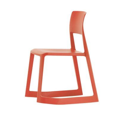 Red Tip Ton aLL-Plastic Chair without Armrest
